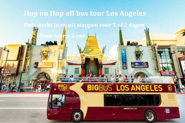 LA hop on hop off bus